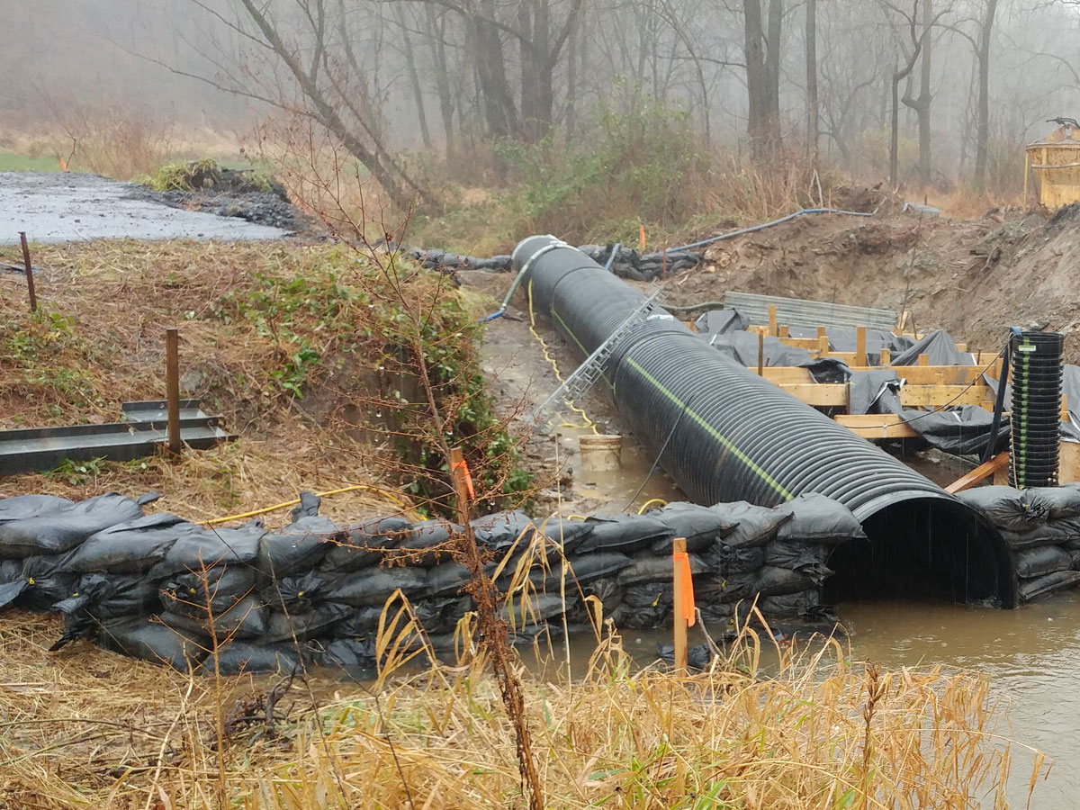 CMS recently completed a stormwater culvert replacement project on Milestone Road.