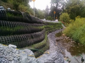 CMS completed a stream bank restoration project on Francis Cadden Parkway in 2016.