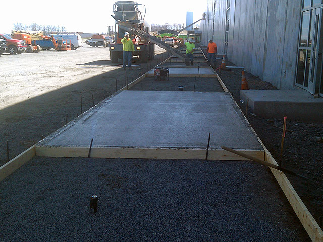 Concrete Construction at American Eagle Distribution Center by Construction Masters Services