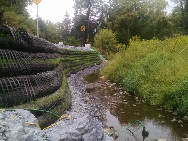 Francis Cadden Stream Bank Restoration by Construction Masters Services
