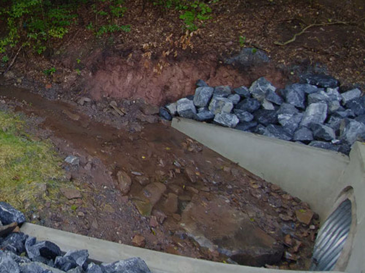 CMS completed drainage improvements for Roberts Valley Road in 2016.